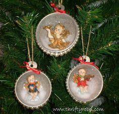 Vintage Measuring Cup Shadow Box Ornaments - I often buy things at the thrift stores that I love or find interesting even though I don't know what I'm going to...