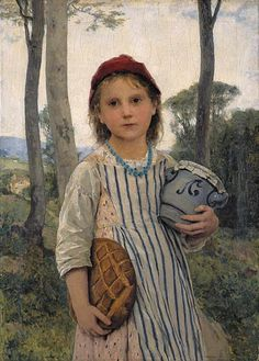 Little Red Riding Hood or Rotkäppchen, 1883-by-Albert-Anker