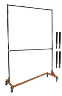 Extended Height Nesting Z-Rack Rolling Garment Rack with Add-On Bar, Commercial Grade Metropolitan Display http://www.amazon.com/dp/B005DME8AI/ref=cm_sw_r_pi_dp_wOyWvb08A1383