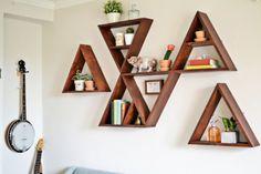 Stylish And Original DIY Triangle Shelf | Shelterness
