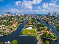 Land / Lot for Sale at HUGE WATERFRONT CORNER LOT 466 POINCIANA DR Hallandale, Florida,33009 United States