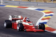 Jonathan Palmer in his Zakspeed 861 at the French Grand Prix in 1986.