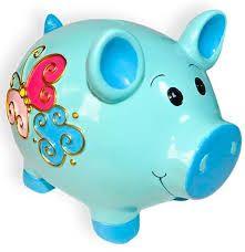 Resultado de imagen para alcancias Pigs, Piggy Bank, Baby Shower, Teacup Pigs, Safe Room, Modelling Clay, Creative Things, Piglets, Pumpkins