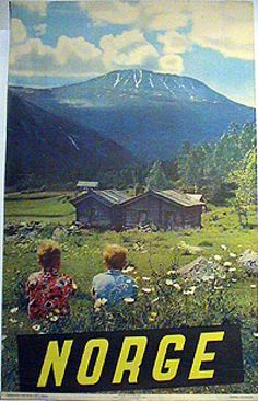 Norway travel poster, 1955