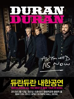 Duran Duran Live in Seoul in just two sleeps...