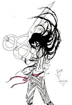 'Como uma tesoura que desenha o Abismo, que traça na escuridão o que separa a pele do sangue'. Via www.teatrosaladistar.com/testemunhalv.