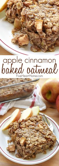 Tender apples, warm cinnamon, and sweet maple syrup flavor this wholesome Apple Cinnamon Baked Oatmeal, sure to become a new fall favorite! Y'all already know that I'm a baked oatmeal aficionado, so