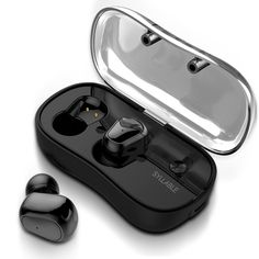 Wireless Earbuds, Syllable Bluetooth Headphones Noise Cancelling Earphones In Ear Stereo Bass Sweatproof Mini Running Earpiece with Mic for iPhone Samsung iPad and Most Android Phones Bluetooth Headphones, Bluetooth Gadgets, Running Headphones, Electronics Gadgets, Ipod, Earbuds With Mic, Hifi Stereo, Syllable, Video Game