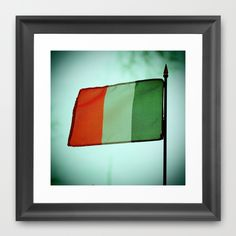 Irish tricolor Framed Art Print