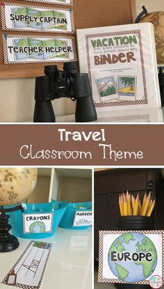 Travel theme decor to help you decorate and organize your classroom before back to school!