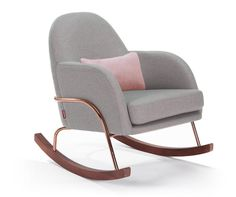 Rocking chair and ottoman for nursery jackie modern nursery rocker chair nursery furniture by monte rocking . rocking chair and ottoman Modern Nursery Furniture, Nursery Modern, Rustic Nursery, Baby Furniture, Nursery Rocker, Upholstery Cleaner, Wood Slats, Or Rose, Rose Gold