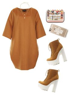 """...."" by poisonedcandycoatedcaffeine ❤ liked on Polyvore featuring Rochas, Charlotte Russe, Kate Spade, Fendi and Casetify"