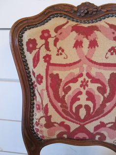Needlepoint Pair of Chairs at Digs! Fabulous 18th century walnut needlepoint...in shades of PINK...be still my heart!!!