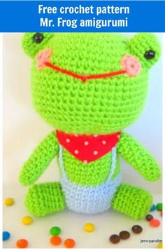 Free Amigurumi Frog pattern ( Mr.Frog )