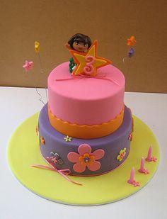 pretty dora cake