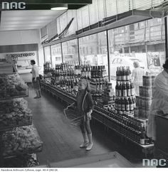 Grocery store in the Poland, 1970