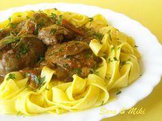 Rețetă Felul principal : Tagliatelle cu ficatei de pasare de Sara_Mike Carne, Spaghetti, Beef, Ethnic Recipes, Food, Kitchens, Meat, Essen, Meals