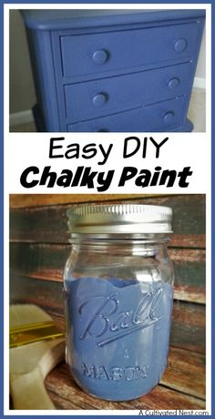 Commercial chalky paints look great and have many benefits over other kinds of paint, but can be pricey. Save money and make your own easy DIY chalky paint!