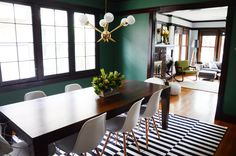 "A ""Just-Moved-In"" Tour of a Chicago Bungalow – Dining Room Gold Dining Room, Room, Bungalow Interiors, Green Dining Room, Dining Room Design, Chicago Bungalow, Gold Dining, Dining Room Paint, Formal Dining Room"