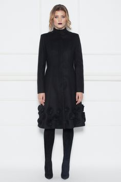 FashionUP! - Redingota NISSA RG8017 Negru - FEMEI, Geci & Sacouri, Paltoane