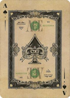Ace of Spades from Federal 52 Playing Cards