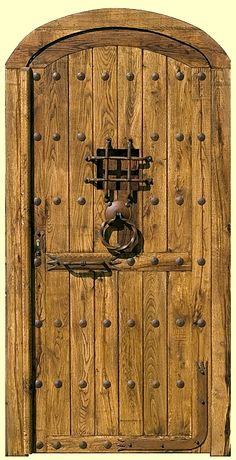 Rustic Doors, Wooden Doors, Old Doors, Windows And Doors, Wooden Front Door Design, Medieval Door, Castle Doors, Cabin Doors, Entrance Doors