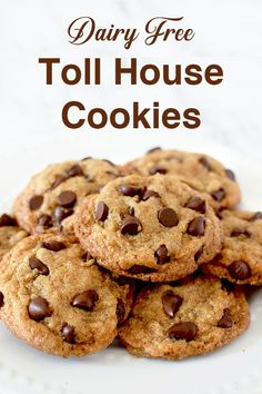 These Toll House chocolate chip cookies make for the perfect dairy free dessert. This recipe couldn't be any easier! Dairy Free Pecan Pie, Dairy Free Lemon Bars, Dairy Free Pumpkin Pie, Dairy Free Brownies, Dairy Free Thanksgiving Recipes, Dairy Free Recipes Easy, Gluten Free, Make Chocolate Chip Cookies, Dairy Free Chocolate Chips