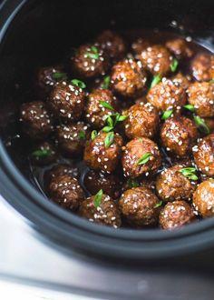 Slow-Cooker Hoisin Turkey Meatballs