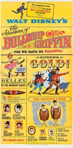 The Adventures of Bullwhip Griffin Movie Poster ( of Walt Disney Movies, Disney Parks, Suzanne Pleshette, Karl Malden, Six Month, See Movie, Live Action, Adventure, Movie Posters