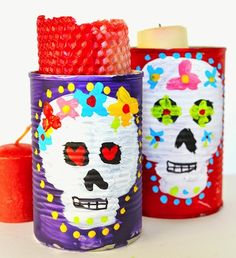 25 Recycled Tin Can Crafts For Kids – Play Ideas Kids Crafts, Tin Can Crafts, Creative Crafts, Creative Ideas, Halloween Crafts For Kids To Make, Spooky Halloween Crafts, Halloween Ideas, Happy Halloween, Cool Diy