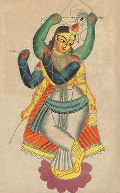 India Kalighat painting