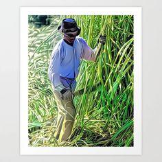 Sugarcane Cutter, New Iberia, Louisiana 1938 (uncaptioned) Art Print Colorized History, New Iberia, Meet The Artist, Buy Frames, Louisiana, Printing Process, Gallery Wall, Superhero, Art Prints