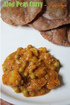 Aloo Peas Curry Recipe / Aloo Matar Recipe - Jain Version