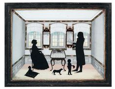A DANISH SILHOUETTE PAINTING-ON-GLASS  CIRCA 1795http://www.christies.com