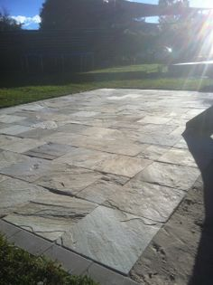 Paving: Patio Landing. Www.pavingcanberra.com Paving Product: Natural Stone  400