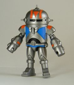 "Custom figure by Joe Amaro based on the concept robot Ralph McQuarrie did for the ""Masters of the Universe"" movie."