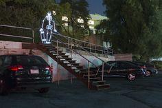 Desenhos de luz inspirados na vida na Califórnia - Clube do skate