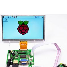 Makerfire 7-Inch. Raspberry Pi LCD Display Screen TFT Monitor with HDMI VGA Input Driver Board Controller DIY http://ift.tt/2kn7G0X