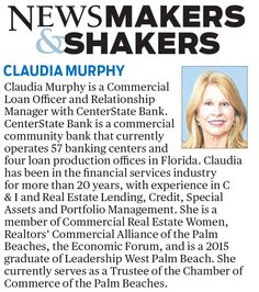 Newsmaker & Shakers spotlight: Claudia Murphy from CenterState Bank