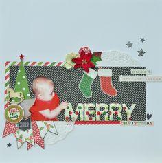 Merry Christmas *MCS Main Kit Dec 2013* - My Creative Scrapbook Kit using echo park 'tis the season collection'