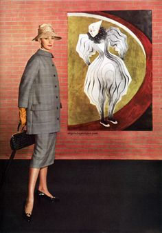 Harper's Bazaar March 1955 - Photo by Louise Dahl-Wolf  Suit by Ben Zuckerman