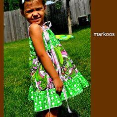 Garden Grove Dress  belted cotton sundress by MarKoosModernDesign, $34.50
