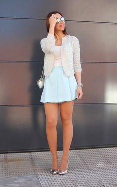 Baby blue. Pastel, minifalda, sweet. Pistas de mi armario. Blog, moda, tendencias, fashion, style, estilismo, salud, consejos.
