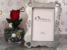Elegant Hearts Silver Photo Frame Favors image