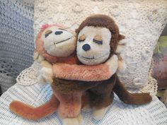 Vintage Dakin 1975 Plush Hugging Girl Boy by Daysgonebytreasures, $18.00