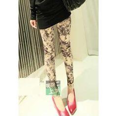 Euro Style Women Skinny Grey Cotton Leggings One Size @YIF11640g... via Polyvore