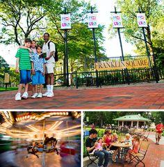 Franklin Square in Historic Philadelphia