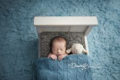 Baby Boy Sleeping Sweet Dreams in Baby Bed {LaCrosse, WI Best Newborn Photography} » DianeH Photography