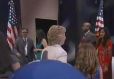 FIGURES. Hillary Clinton Watches US Flag Fall and Hit Floor After Speech – Does Nothing (Video)  Jim Hoft Jul 29th, 2016