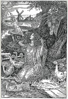 The Goose Girl - Grimm's Fairy Tales 1917 - Louis Rhead